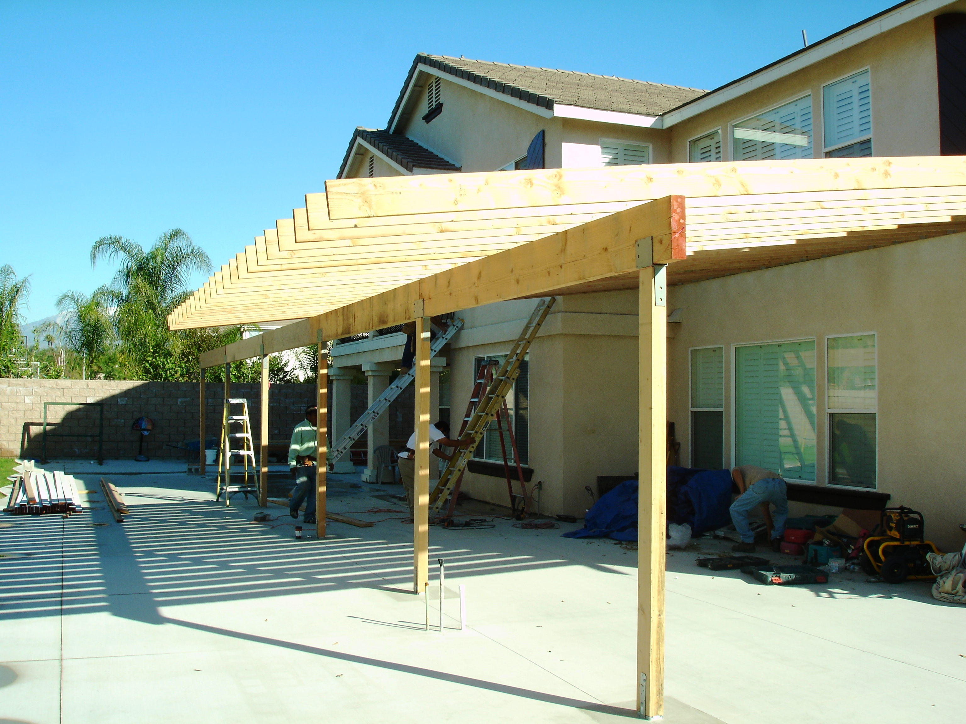 Pics s How To Build A Patio Cover With A Corrugated