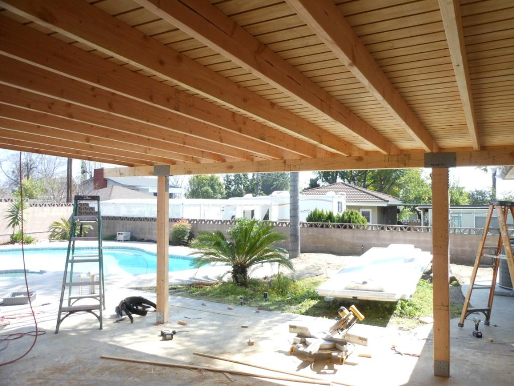 Solid Covered Patio 3 (Paneled Plywood Underside) on Wood Covered Patio Ideas id=33471
